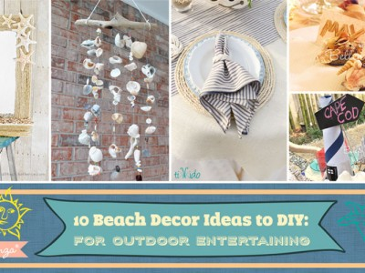 Beach decorations for your patio this summer.