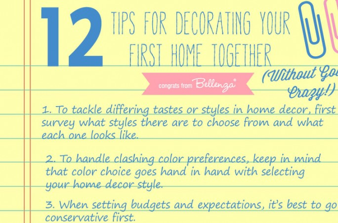 12 Tips for Decorating Home as Newlyweds by Bellenza's Home and Living Blog.