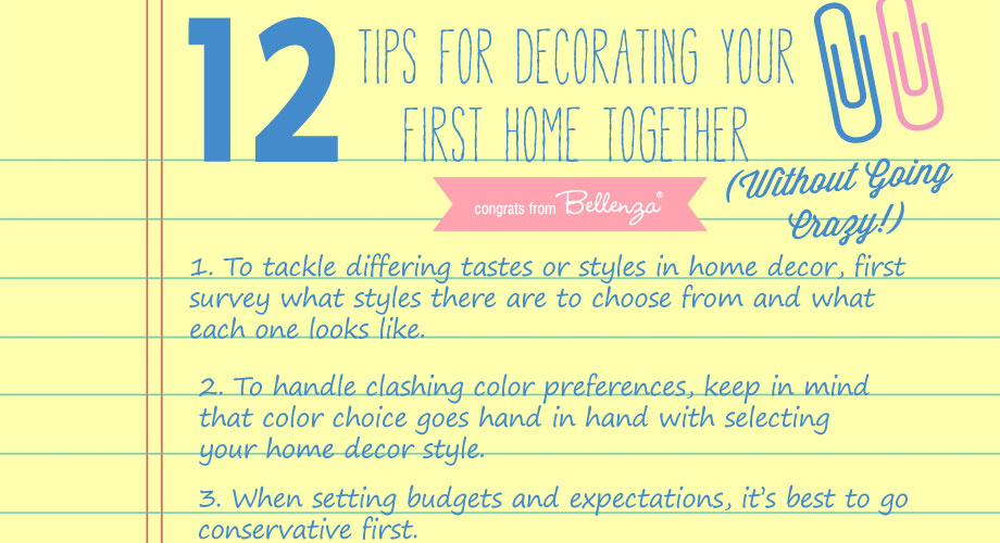 12 Tips For Decorating Your First Home Together As Newlyweds