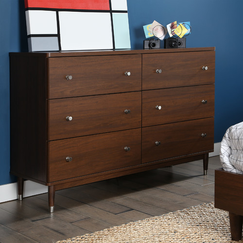 Olly Mid Century Modern 6 Drawer Dresser - from South Shore via Wayfair