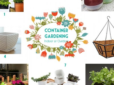 Container gardening for indoor or outdoor spaces that are small.