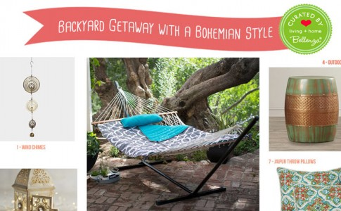 Eclectic Elements for a Small Backyard Getaway with a Boho Touch!