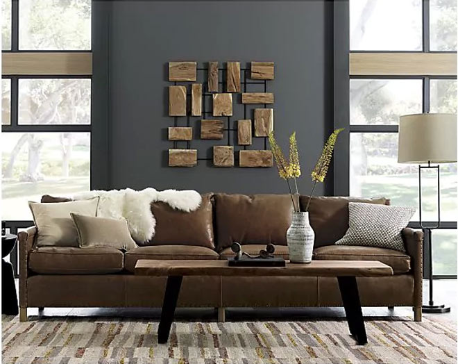 Image via Crate and Barrel Yukon Small Bench Coffee Table