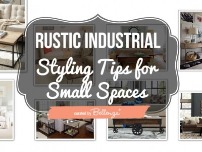 Rustic Modern Industrial Styling for a Small Living Room.