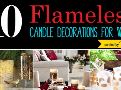 Flameless Candle Decorations for Winter
