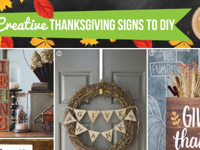 Thanksgiving Signs to Make for the Home