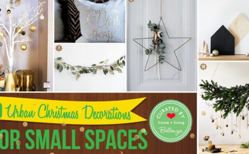 Urban-inspired Christmas Decor for Small Spaces