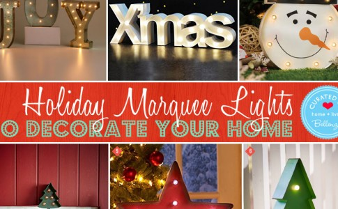 12 Holiday Marquee Lights for Christmas Decorations