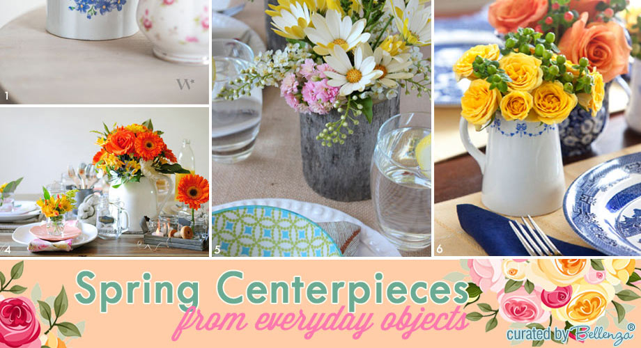 Spring centerpieces from what you have at home
