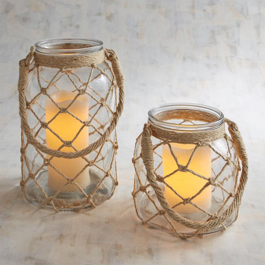 3 - Coastal Jute Lanterns