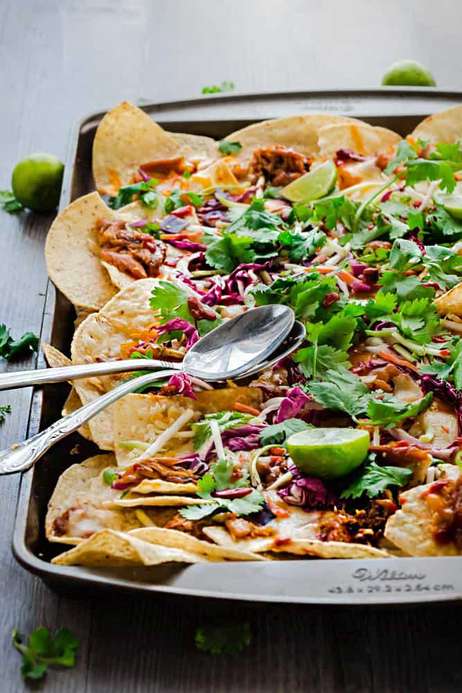 2 - Asian Chicken Nachos via Life Made Sweeter