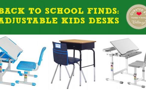 Back to School Finds: Adjustable Kids Desks