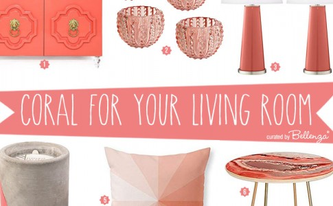 How to decorate your living room in coral, the 2019 Pantone color of the year
