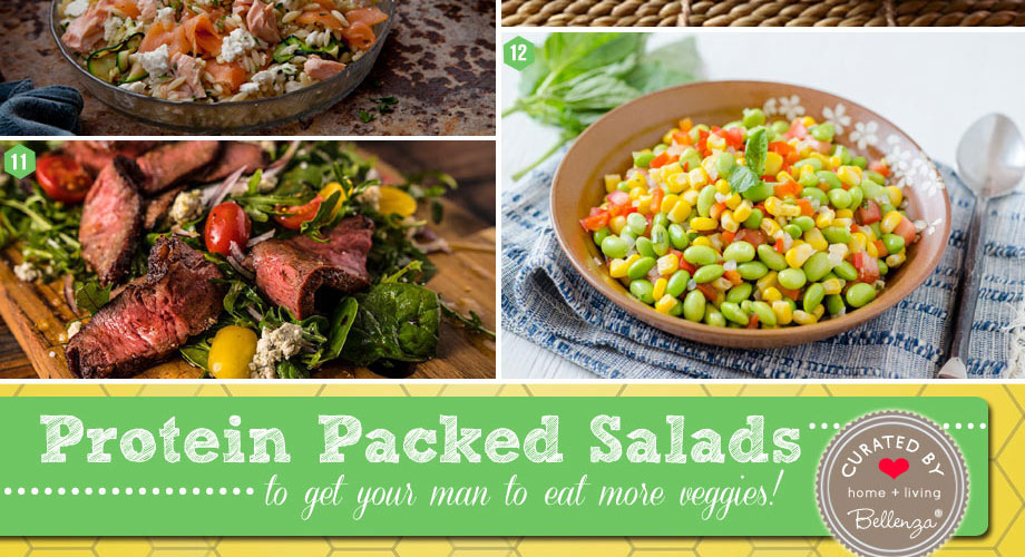 Protein packed salads filled with a variety of ingredients from tofu to quinoa