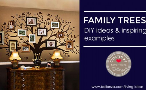 How to create a family tree wall with decals and stencils.