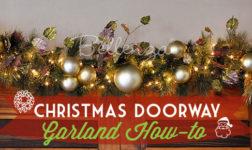 DIY Christmas garland for doorway // Bellenza.