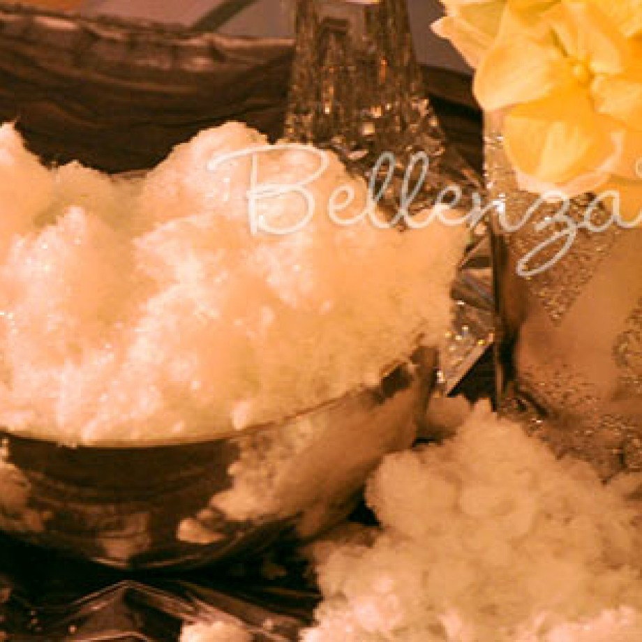 How to make artificial snow by Bellenza.