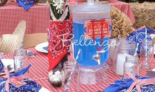 Little Cowboy Party Table Setting