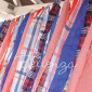 July 4th Fabric Scrap Tassel Banner DIY by Bellenza.