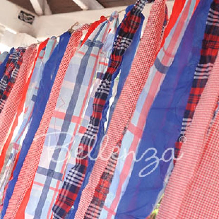 July 4th Fabric Scrap Tassel Banner DIY by Bellenza.