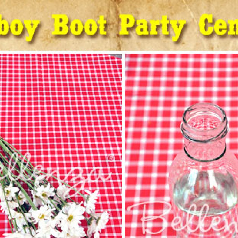 Cowboy DIY Project Centerpiece by Bellenza.