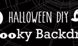 A DIY Backdrop for a Halloween Entryway