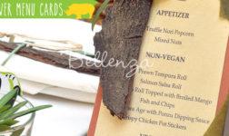 Safari Menu Card Ideas DIY