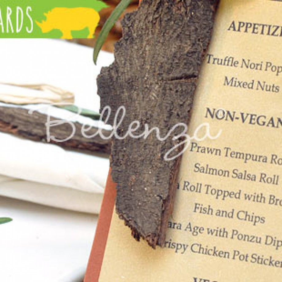 Safari Menu Card Ideas DIY