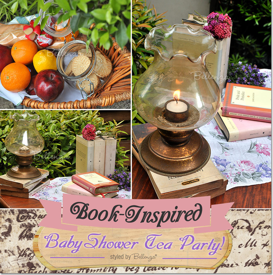 Book theme baby shower tea party ideas