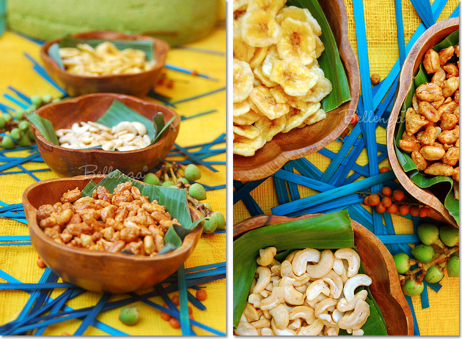 Marvelous Caribbean Dinner Party Menu Ideas Part - 2: Bowls Of Nuts And Banana Chips