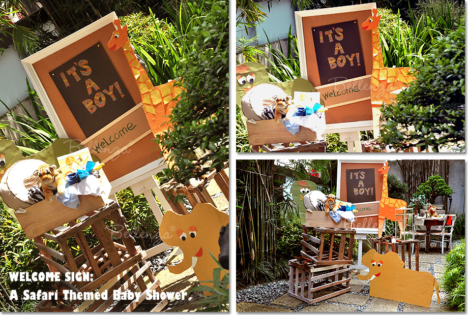 Get Crafty With A Wild Welcome Display For A Safari Baby Shower
