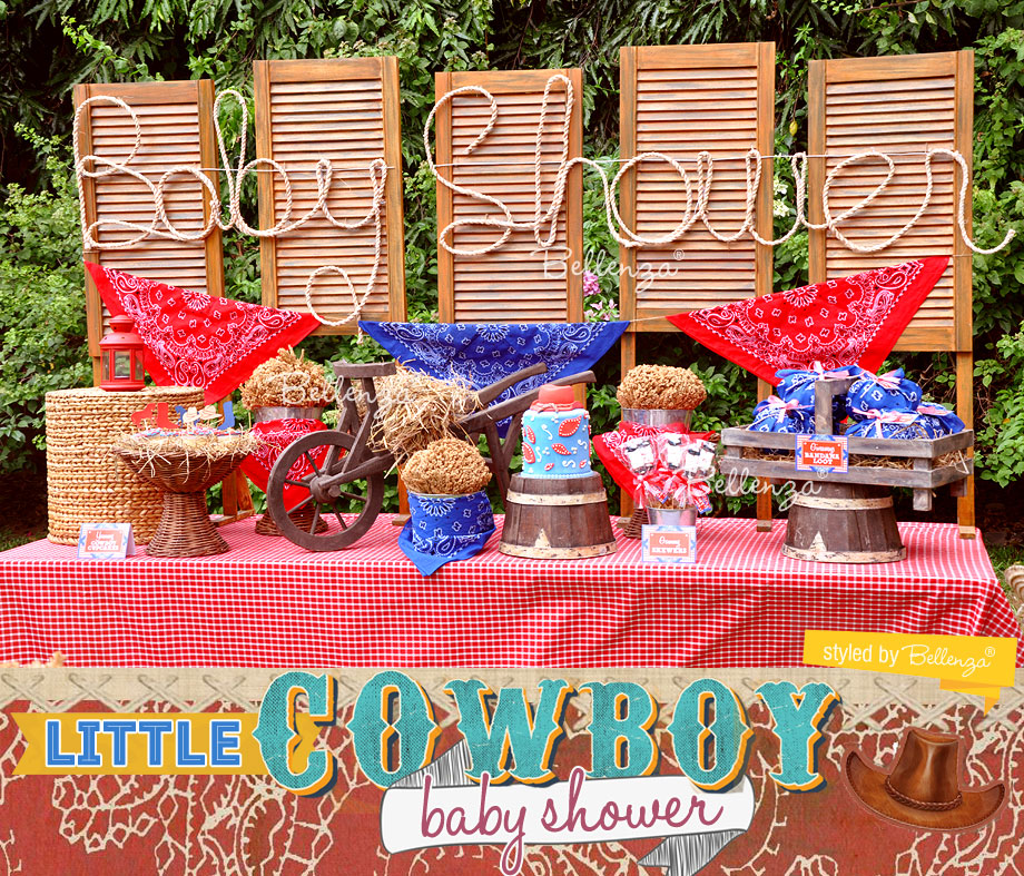 Little Cowboy Baby Shower Styled Shoot by Bellenza. #cowboypartytheme