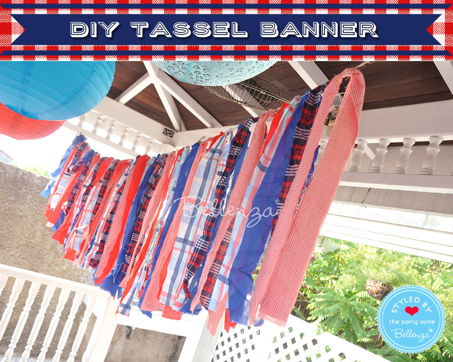 July 4th tassel banner in the party venue.