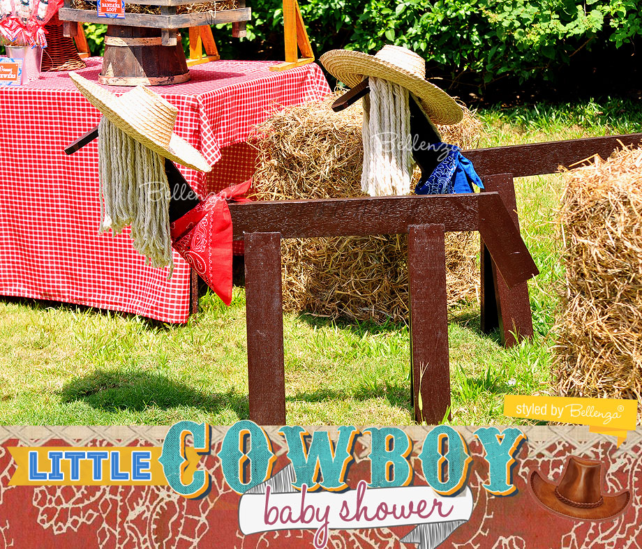 Cowboy dessert table baby shower favors. Styled by Bellenza. #cowboypartyfavors