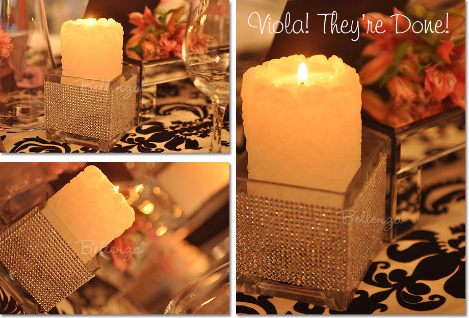 Hollywood Theme Party Decorations Ideas Part - 50: Glittery Candle Decorations For A Hollywood Theme Party