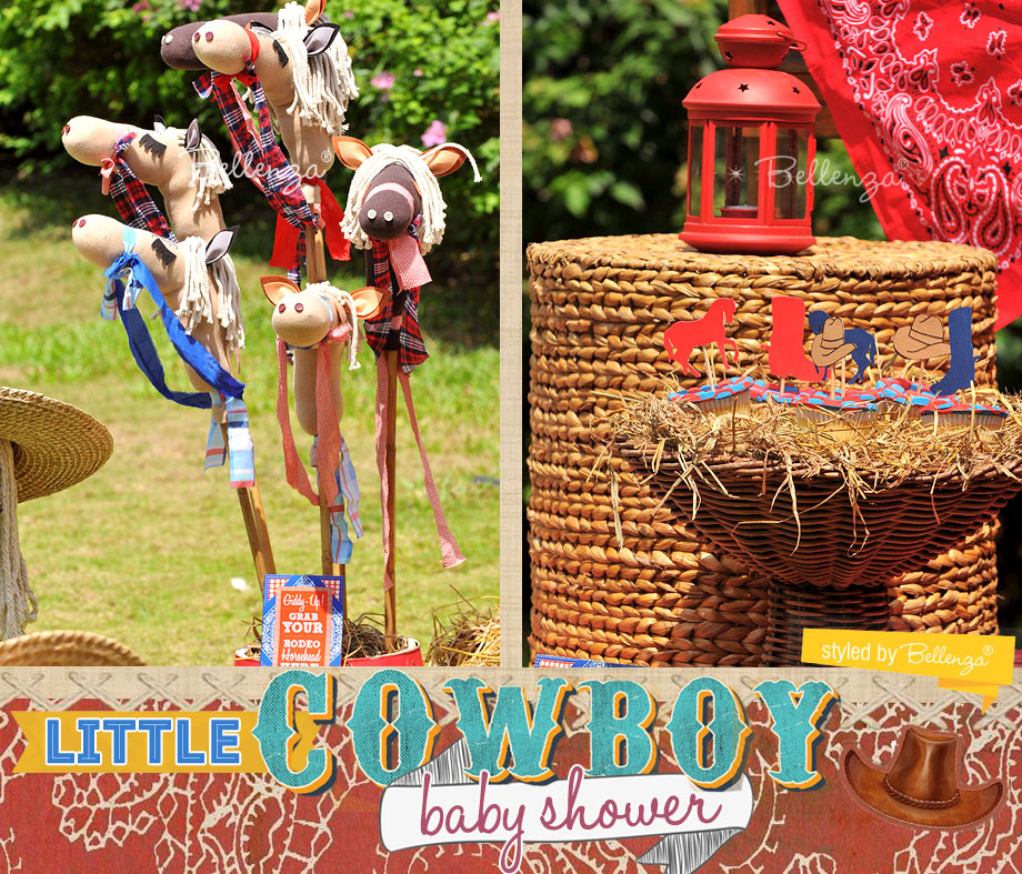 A Cowboy party styled short welcome sign. A styled shoot by Bellenza.