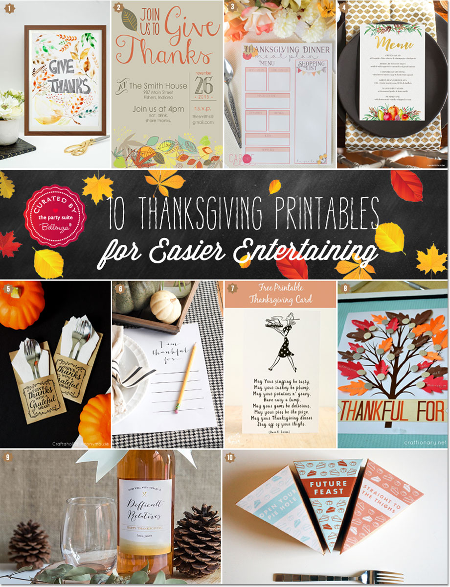 Host a Party-ready Thanksgiving with Stylish Printables!