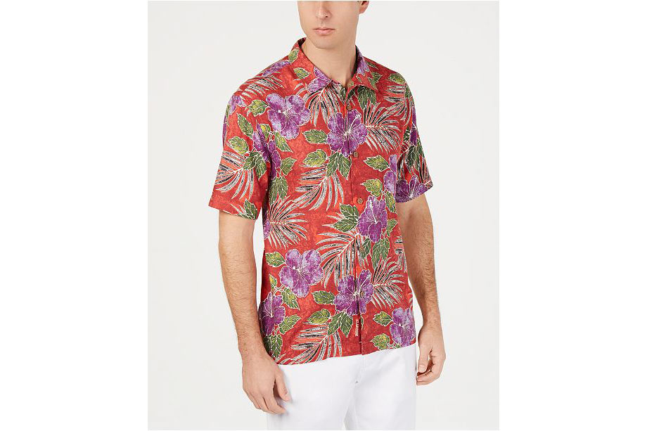 Red Hibiscus Shirt