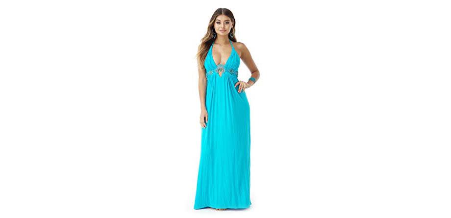 Maxi Dress in Caribbean Blue