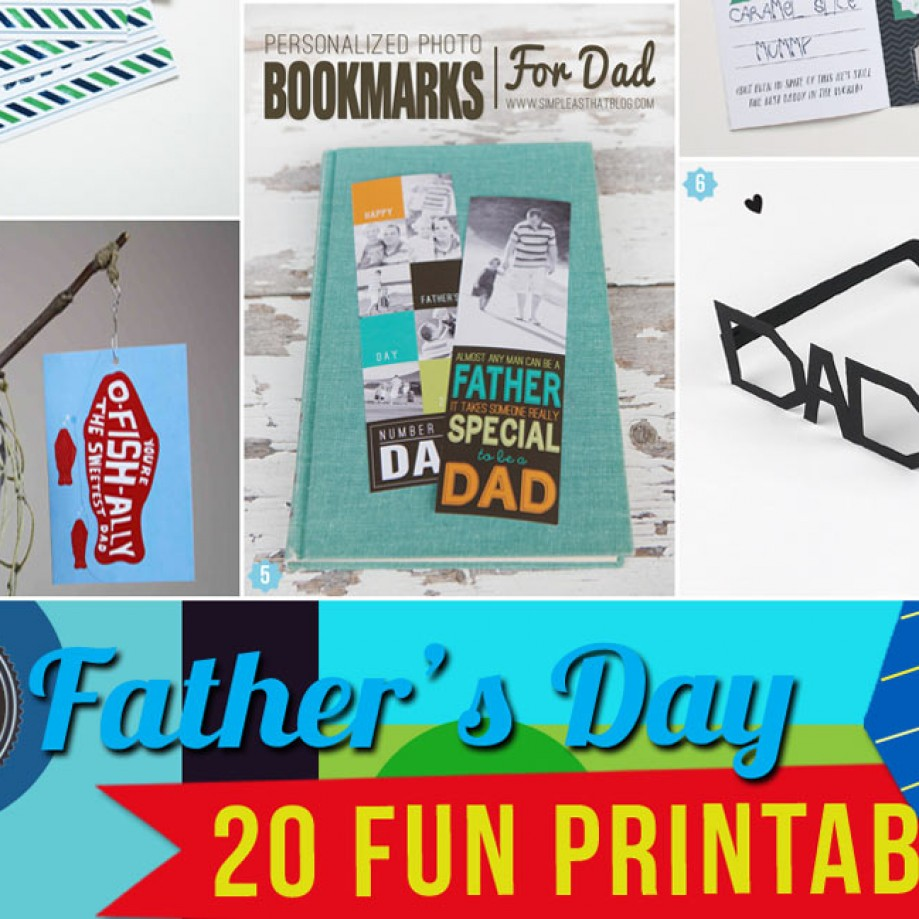Creative Father's Day Printables for Homemade Gifts