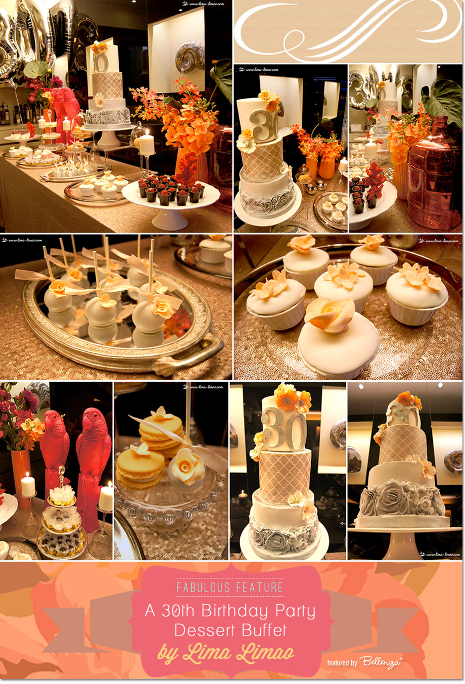 3A Tropical Themed 30th Birthday Party Dessert Table Styled by Limao Limao!