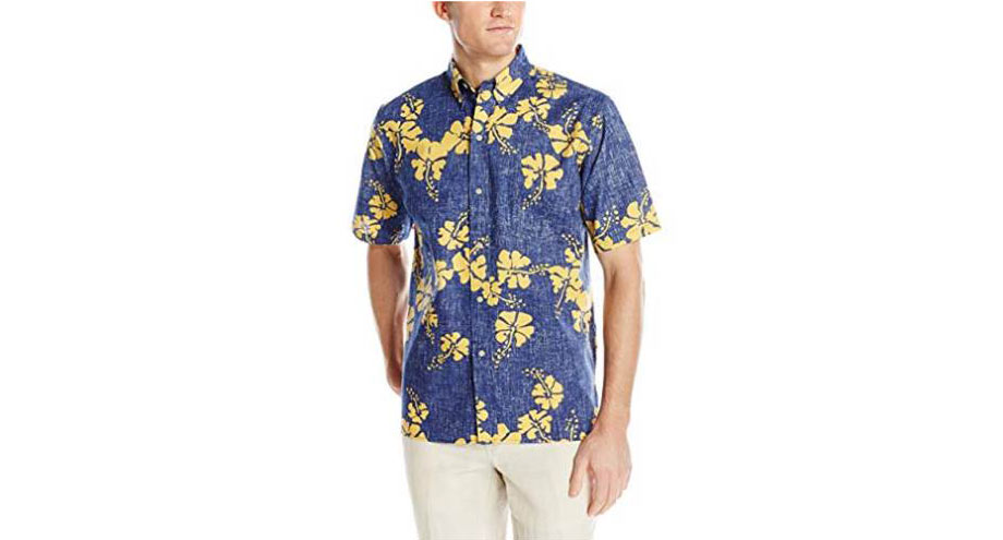 Classic Fit Hawaiian Shirt - via Amazon