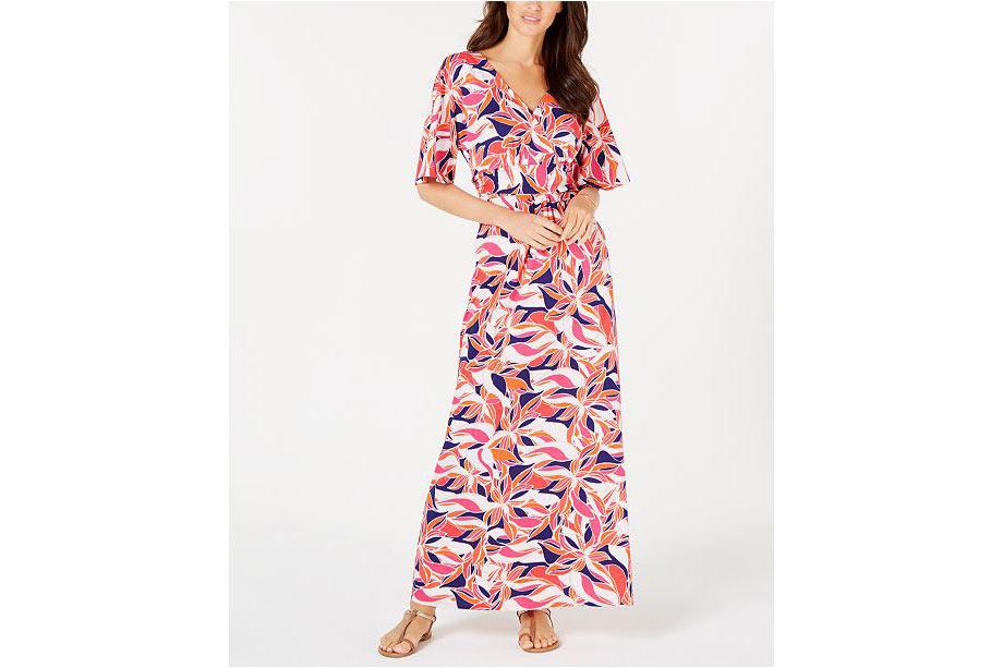 5 - Pappagallo Lani Printed Maxi Dress - via Macy's