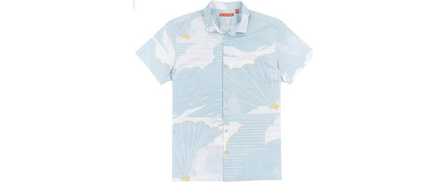 Tori Richard Daybreak Camp Shirt - Water - via Amazon