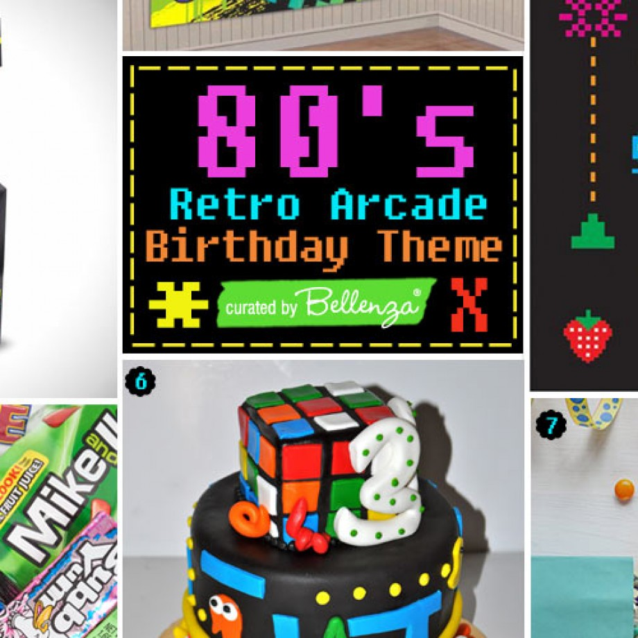 80s retro arcade birthday