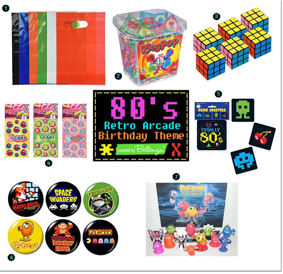 80s arcade theme loot bags
