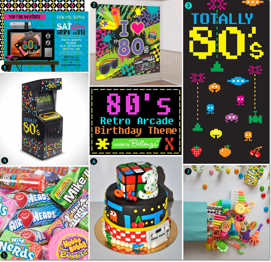 80s Retro Arcade Birthday Theme Totally Cool Ideas Unique Party