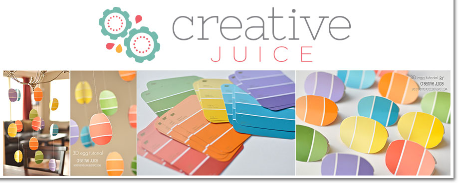 Creative Juice 3D Paint Chip Egg Decor Project