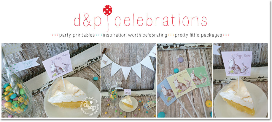 DIY Printable Easter Bunny Collection from D&P Celebrations