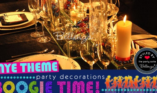 Disco Party Dinner Table Decorations for NYE